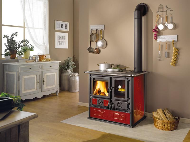 Cucina a legna con forno nordica extraflame rosa reverse liberty bordeaux pramar casa - Cucina bordeaux ...