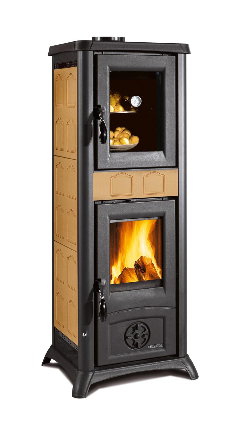 stufa a legna con forno nordica extraflame gemma elegance cappuccino pramar casa. Black Bedroom Furniture Sets. Home Design Ideas