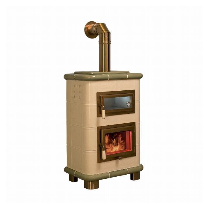 stufa a legna con forno emmeti saturno crema puntinato. Black Bedroom Furniture Sets. Home Design Ideas