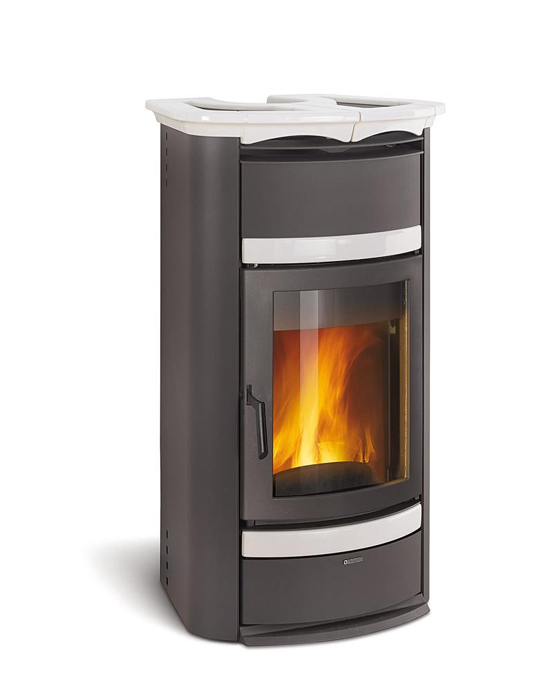 Termostufa a legna nordica extraflame norma steel idro d s a bianco infinity pramar casa - Termostufa a legna idro ...
