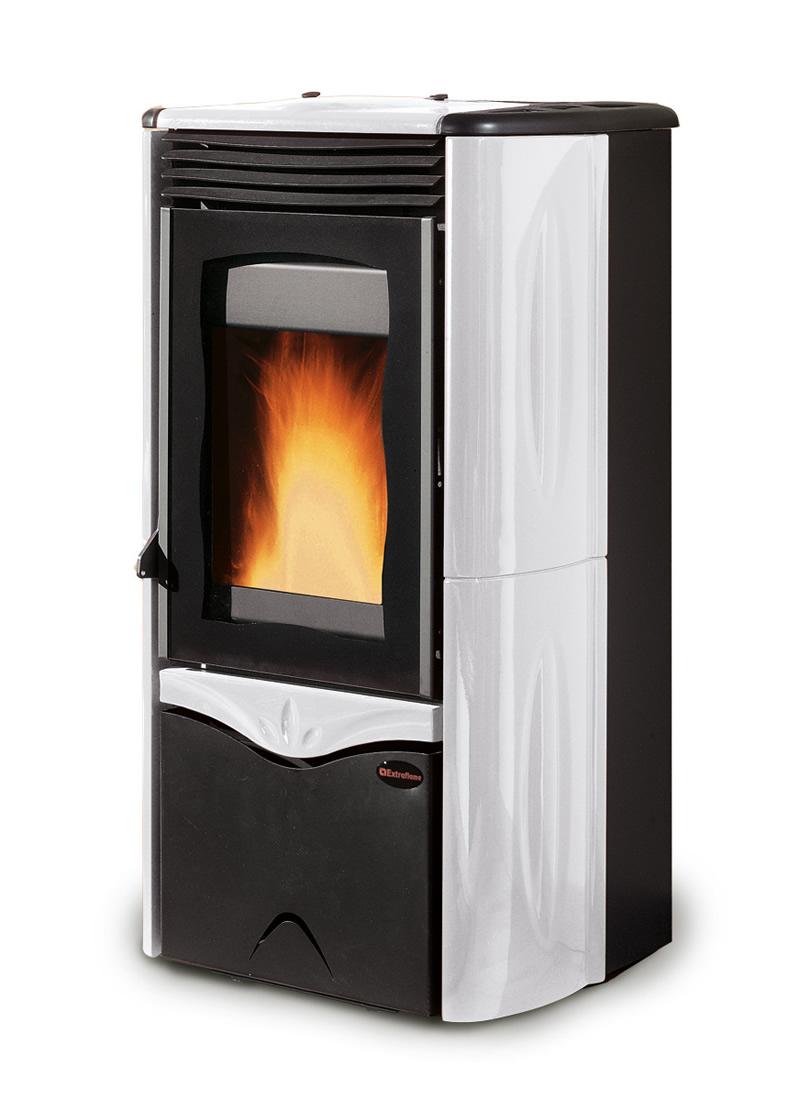Stufa a legna con forno nordica extraflame isotta interamente ghisa smaltata pramar casa - Stufa pellet idro nordica ...