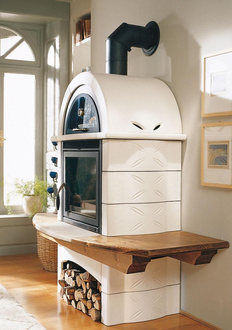 Stufa a legna con forno nordica extraflame falo 39 2l sabbia - Stufe a legna nordica prezzi ...