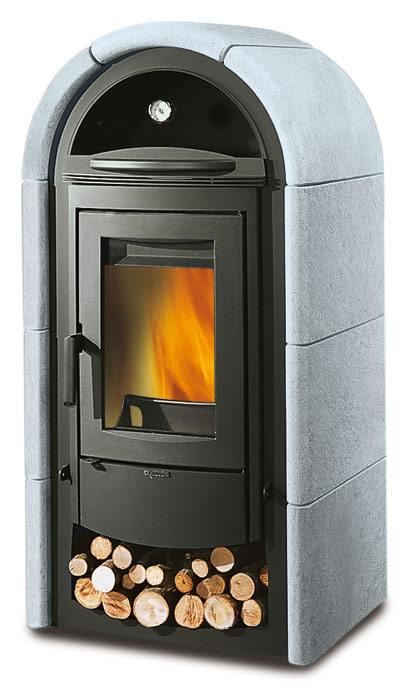 Stufa a legna con forno la nordica extraflame stefany - Nordica stufe a legna con forno ...