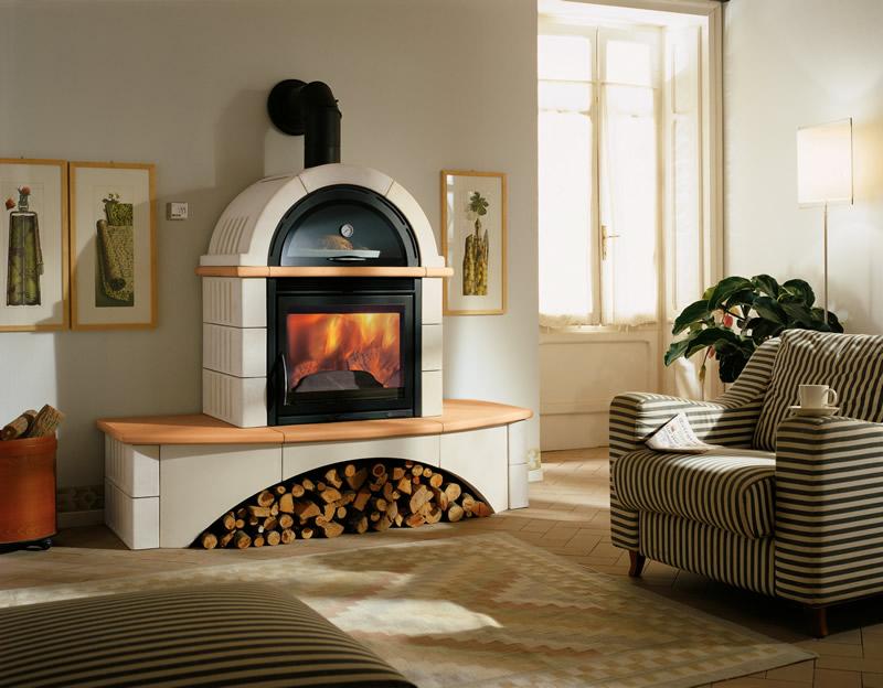 Stufa a legna con forno nordica extraflame falo 39 2c sabbia - Forno a legna in casa ...